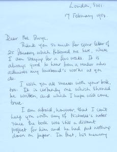 Ann Monsarrat letter 1