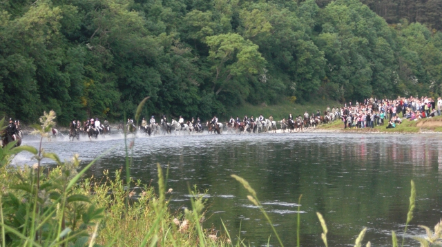The Rideout. 198 crossing the Tweed