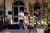 Tom & His Kids in Front of The Hemingway Home-Key West - 1989